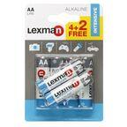 Bateria ALKALICZNA LR6/AA 6 SZT. LEXMAN