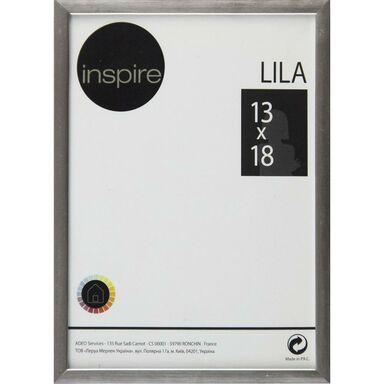 Ramka na zdjęcia Lila 13 x 18 cm srebrna Inspire