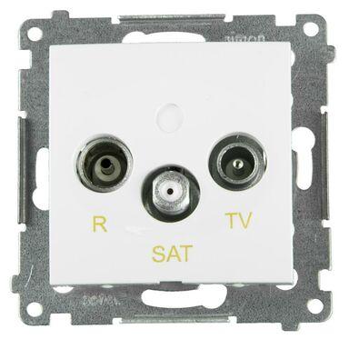 Gniazdo RTV / SAT końcowe SIMON54  biały  KONTAKT SIMON