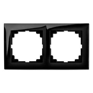 Ramka podwójna SENTIA  Czarny  ELEKTRO-PLAST