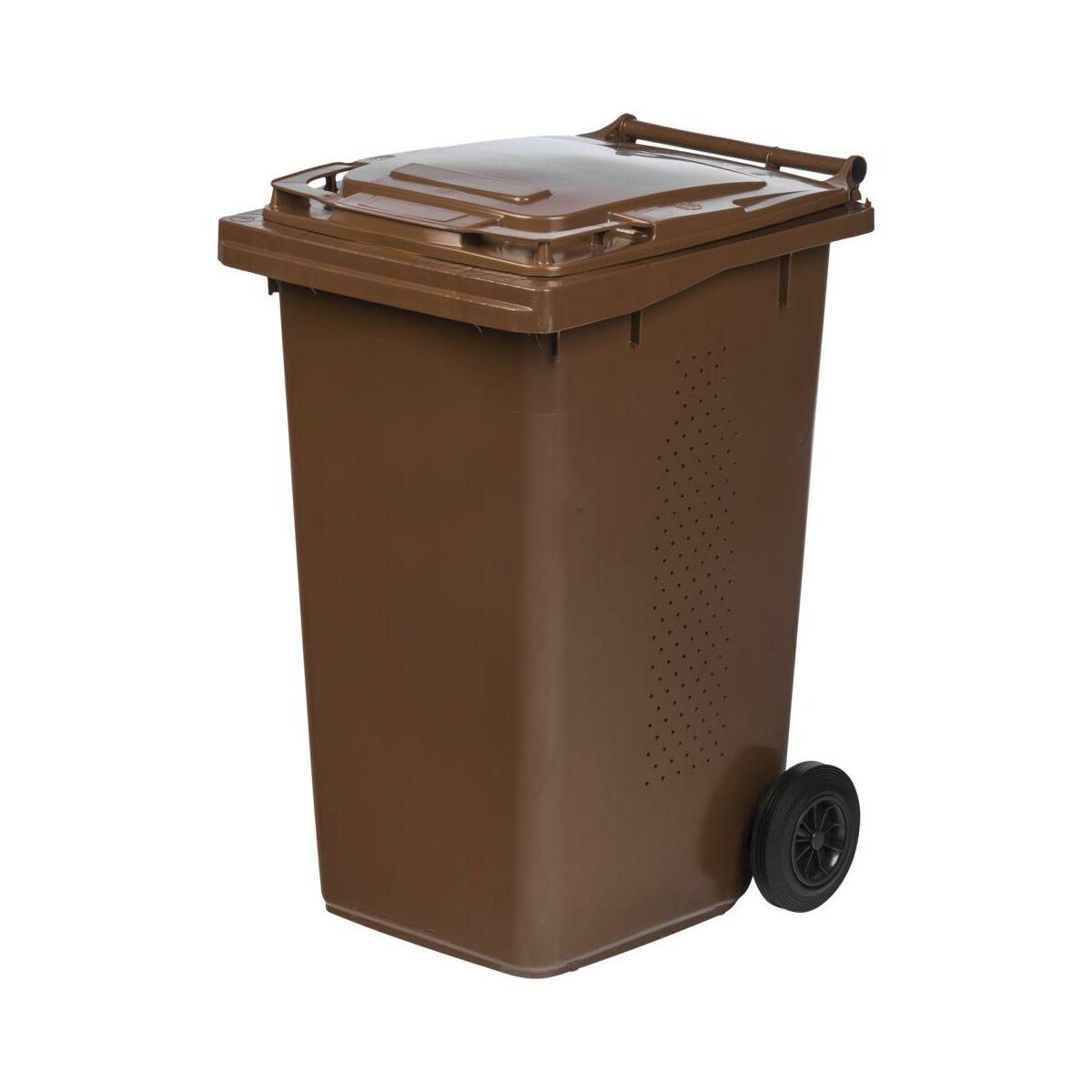 Pojemnik Na Odpady Biodegradowalne Mgb Bio 240l Brazowy Ese Kosze Na Smieci Pojemniki Na Odpady W Atrakcyjnej Cenie W Sklepach Leroy Merlin
