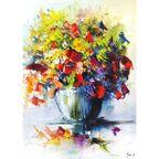 Kanwa Malowane Kwiaty 50 x 70 cm
