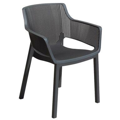 Krzesło ogrodowe ELISA plastikowe antracytowe ALLIBERT