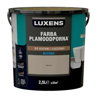 Farba wewnętrzna PLAMOODPORNA do kuchni i łazienki 2.5 l Trench 5 LUXENS