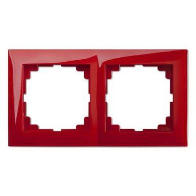 Ramka podwójna SENTIA  Czerwony  ELEKTRO-PLAST