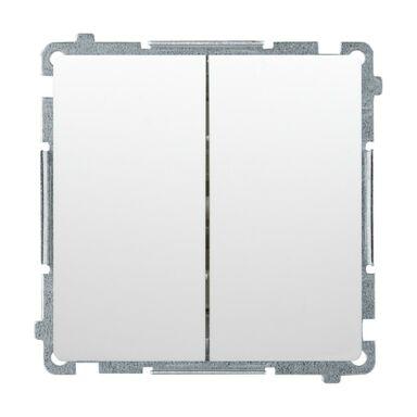 Włącznik podwójny Z PODŚWIETLENIEM BASIC  Biały  SIMON