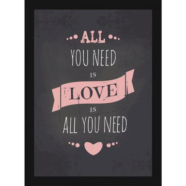 Obraz ALL YOU NEED 27.8 x 36.5 cm