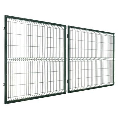 Brama dwuskrzydłowa STARK 400 x 150 cm Zielony POLBRAM