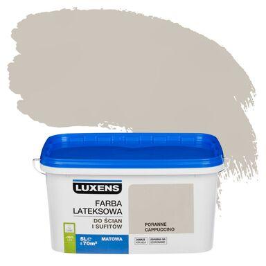 Farba wewnętrzna do ścian i sufitów EMULSJA 5 l Poranne cappuccino LUXENS