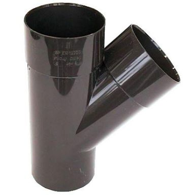 Trójnik rynnowy 100 mm/45° Brązowy SCALA PLASTICS