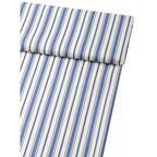 Tkanina bawełniana na mb FESTIN niebieska w pasy szer. 140 cm