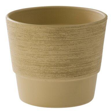Doniczka ceramiczna 32 cm beżowa SERIA 500 CERMAX