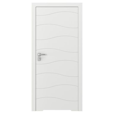 Skrzydło drzwiowe bezprzylgowe z podcięciem wentylacyjnym Vector X Białe 80 Prawe Porta