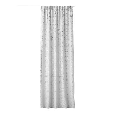 Zasłona Glammy biała 140 x 250 cm na taśmie