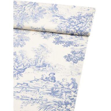 Tkanina bawełniana na mb FESTIN niebieska szer. 140 cm