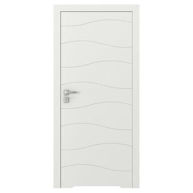 Skrzydło drzwiowe bezprzylgowe VECTOR X Białe 90 Prawe PORTA