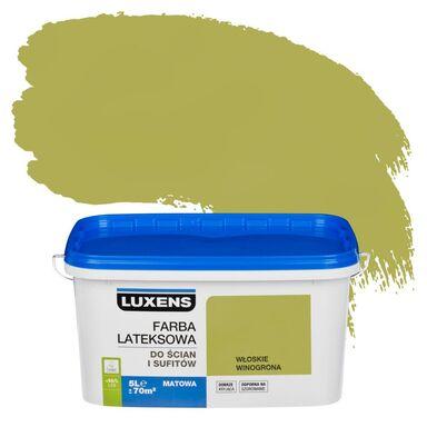 Farba wewnętrzna do ścian i sufitów EMULSJA 5 l Włoskie winogrona LUXENS