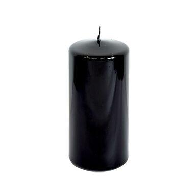 Świeca pieńkowa czarna połysk wys. 15 cm
