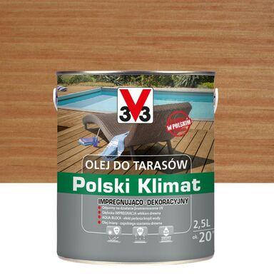 Olej do tarasów Polski Klimat 2.5 l teak V33