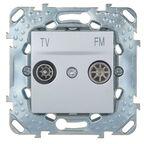 Gniazdo RTV końcowe UNICA  aluminium  SCHNEIDER ELECTRIC