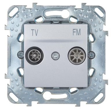 Gniazdo RTV KOŃCOWE UNICA  Srebrny  SCHNEIDER ELECTRIC