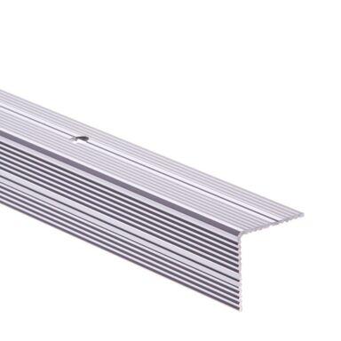 Profil schodowy obustronnie ryflowany 180 cm srebrny Easy Line