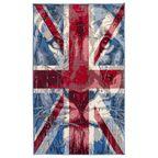 Dywan POP ART niebieski i czerwony 165 x 235 cm wys. runa 7 mm IZRAEL