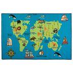 Dywan dziecięcy MAPA niebieski 100 x 150 cm INSPIRE