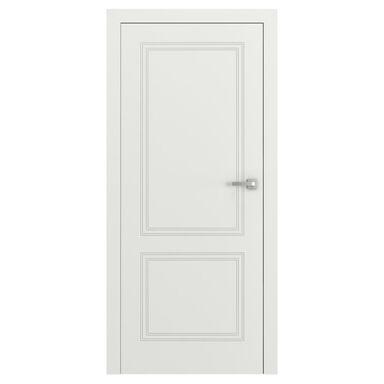 Skrzydło drzwiowe pełne bezprzylgowe VECTOR V Białe 80 Lewe PORTA