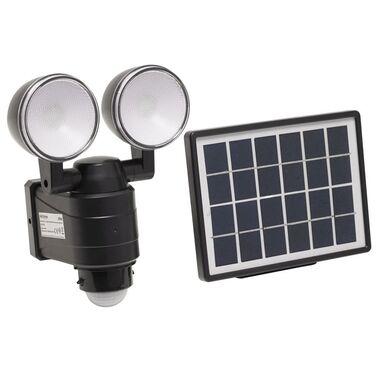 Reflektor solarny VO1876 z czujnikiem ruchu i zmierzchu IP44 600 lm VOLTENO