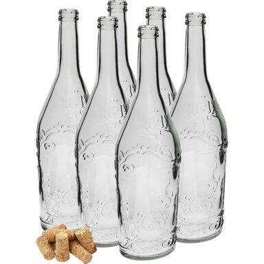 Butelka szklana ozdobna 0.5 l z korkiem BROWIN
