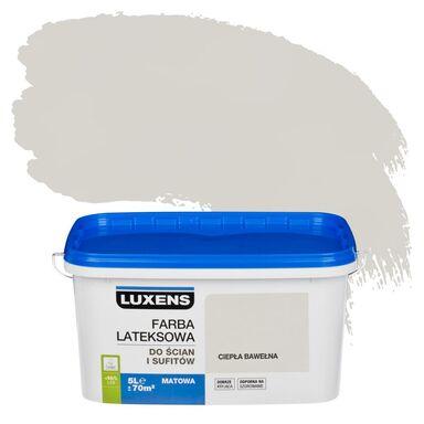 Farba wewnętrzna do ścian i sufitów EMULSJA 5 l Ciepła bawełna LUXENS