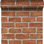 Tapeta RED BRICK 3D czerwona imitacja cegły winylowa na flizelinie INSPIRE