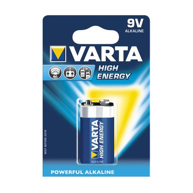 Baterie 9V / 6LR61 / PP3 HIGH ENERGY VARTA