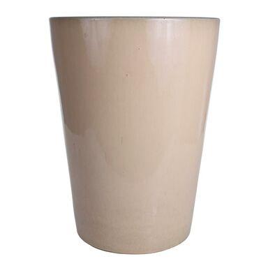 Donica ceramiczna 27 cm kremowa