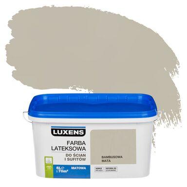 Farba wewnętrzna do ścian i sufitów EMULSJA 5 l Bambusowa mata LUXENS