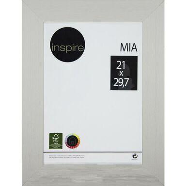 Ramka na zdjęcia Mia 21 x 29.7 cm biała drewniana Inspire