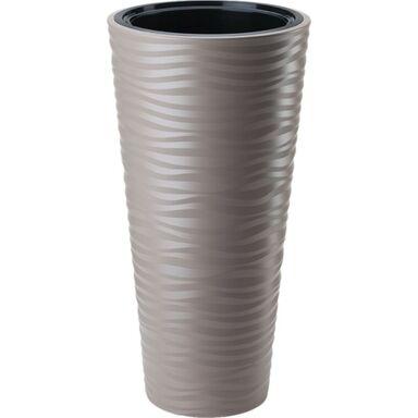 Doniczka plastikowa 30 cm beżowa SAHARA SLIM FORM-PLASTIC