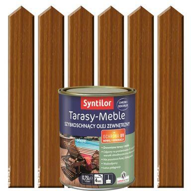 Olej zewnętrzny TARASY-MEBLE szybkoschnący 0.75 l Tek SYNTILOR