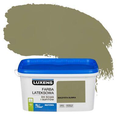 Farba wewnętrzna EMULSJA 5 l Soczysta oliwka LUXENS