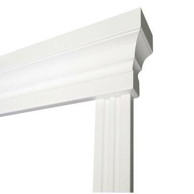 Korona ościeżnicy REGULOWANEJ do drzwi dwuskrzydłowych Biała z opaską 60 + 40 VOSTER