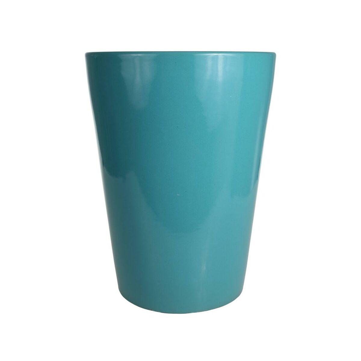 Donica Ceramiczna 42 Cm Turkusowa