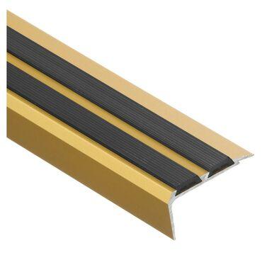 Profil schodowy z gumą 180 cm złoty EASY LINE