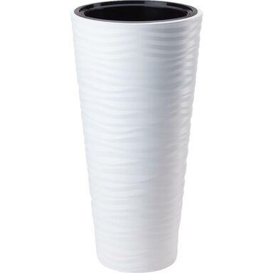 Doniczka plastikowa 40 cm biała SAHARA SLIM FORM-PLASTIC