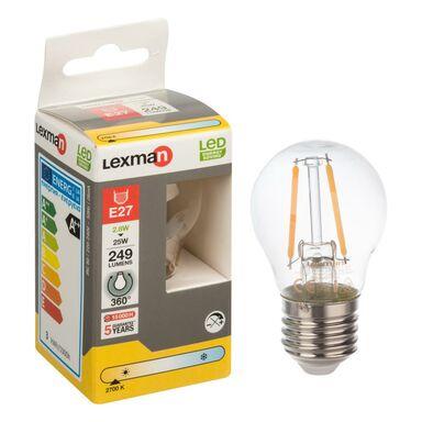 Żarówka LED E27 (230 V) 2.8 W 249 lm Ciepła biel LEXMAN