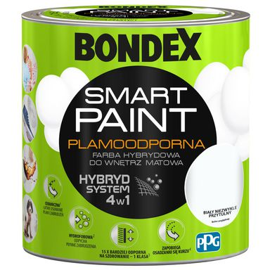 Farba wewnętrzna SMART PAINT 2.5 l Biały niezwykle przytulny BONDEX