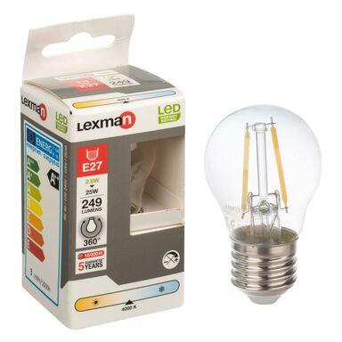 Żarówka LED E27 (230 V) 2.8 W 249 lm Neutralna biel LEXMAN