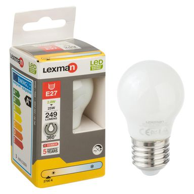 Żarówka LED E27 (230 V) 2,8 W 249 lm Ciepła biel LEXMAN