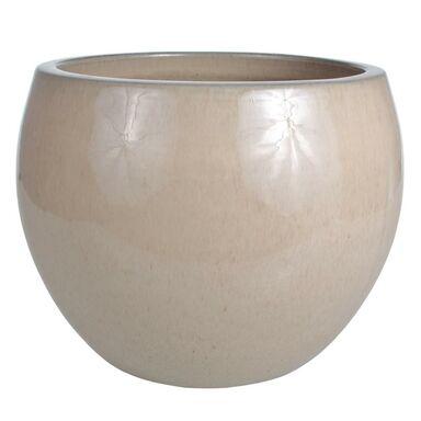 Donica ceramiczna 38 cm kremowa