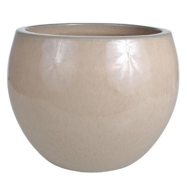 Donica ceramiczna 29 cm kremowa